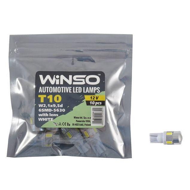 LED лампа Winso T10 12V SMD5630 W2.1x9.5d lens 127320 - 1