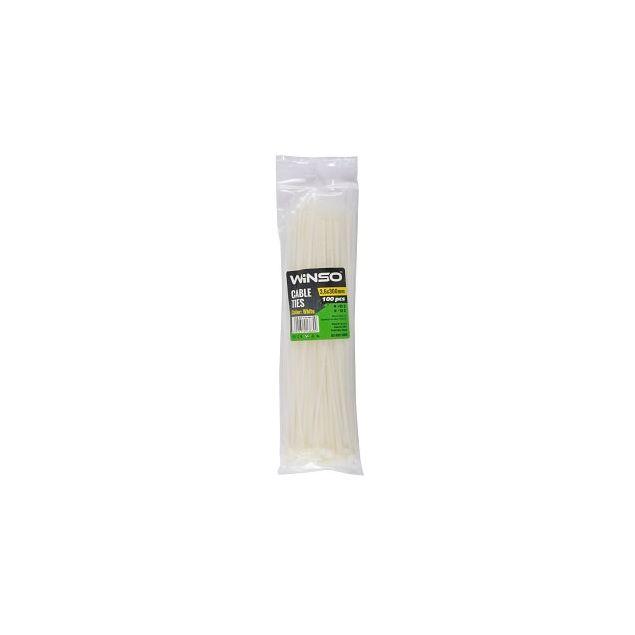 Хомуты пластиковые WINSO 136300 3,6x300 мм Белые - 1