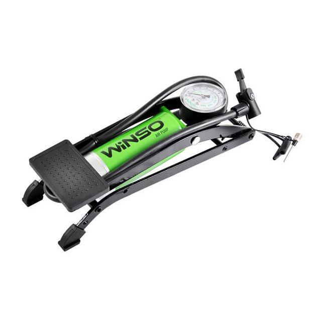 Насос автомобильный ножной WINSO с манометром (120200) - 1