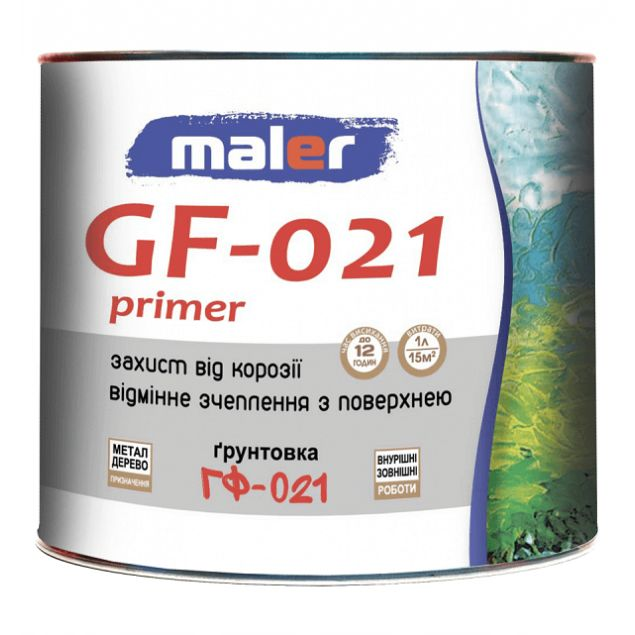 Грунт ГФ-021 красно-коричневый Маляр (25кг) - 1