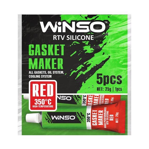 Герметик прокладок высокотемпературный Winso силиконовый красный 310210 - 1
