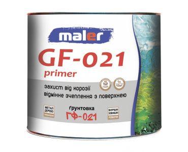 Алкидные грунтовки в Днепре - Грунт ГФ-021 серый MALER (0.9кг)