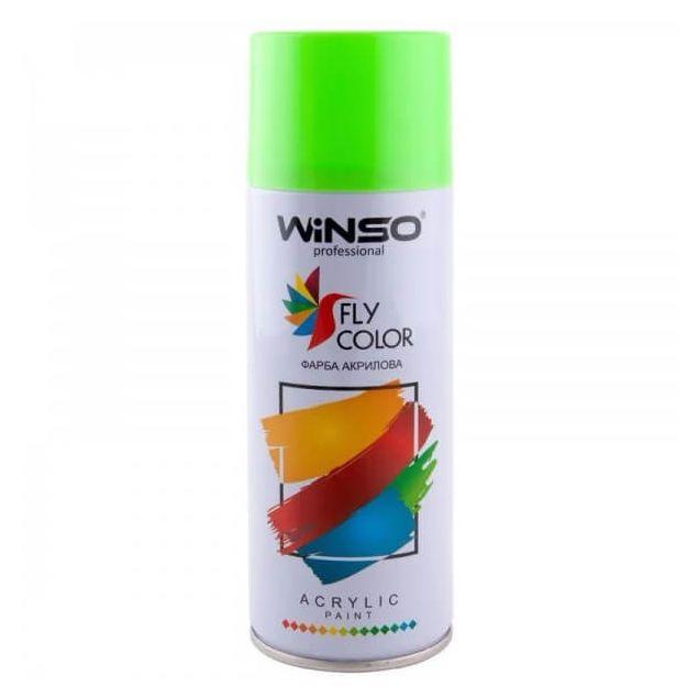 Краска Winso Spray салатово-зеленая LIGHT GREEN RAL6018 880280 450мл - 1