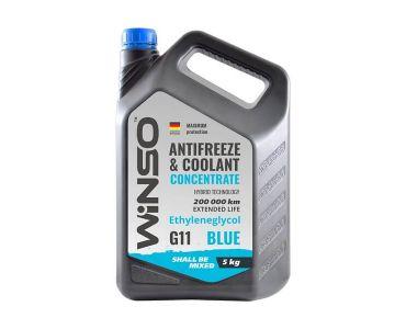- Антифриз-концентрат Winso G11 5 кг Blue -