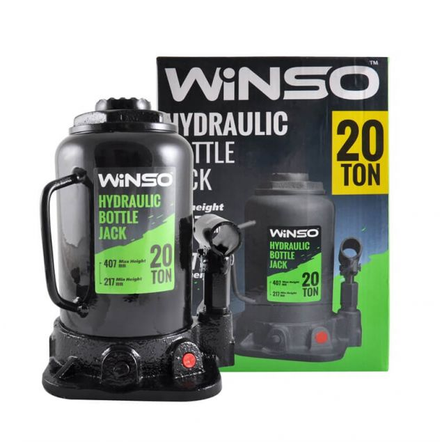 Домкрат бутылочный WINSO 172100 20т 217-407мм - 1
