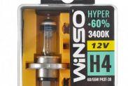 Галогенные лампы Winso HYPER +60% H4 12V 60/55W P43t-38 3400K 2 шт (712430) - 1