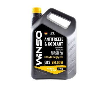 - Антифриз Winso Yellow G13 -42 °С 5 кг Желтый -