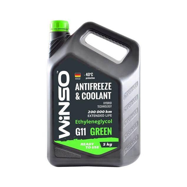 Антифриз Winso Green G11 -40 5 кг Зеленый - 1
