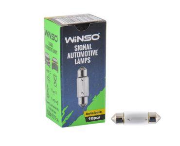 - Лампа Winso 12V SV8.5 T11x37 C10W 10W 713190 -