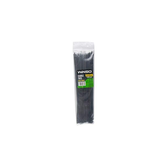 Хомуты пластиковые WINSO 248300 4,8x300 мм Черные - 1