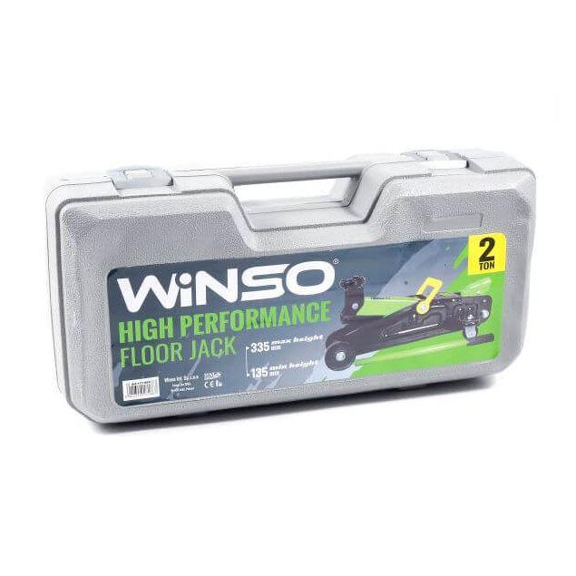 Домкрат гидравлический подкатной Winso 171860 2т 135-335мм в пластиковом кейсе - 5