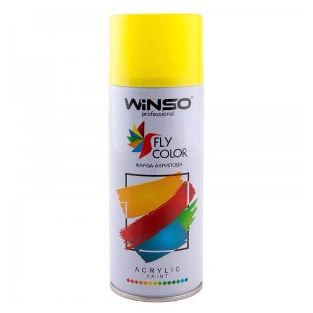Краска Winso Spray желтая TRAFFIC YELLOW RAL1023 880170 450мл - 1