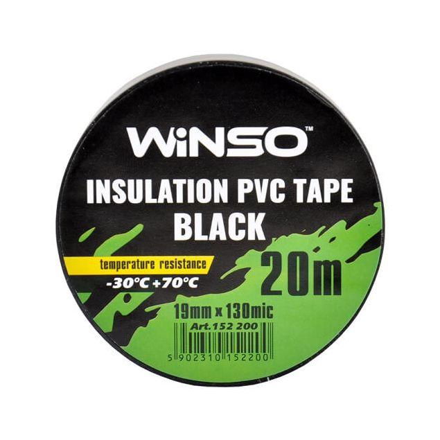 Изолента Winso ПВХ черная 20м / 19 мм - 2