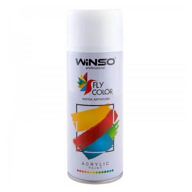 Краска Winso Spray белая глянцевая GLOSS WHITE RAL9010 880130 450мл - 1