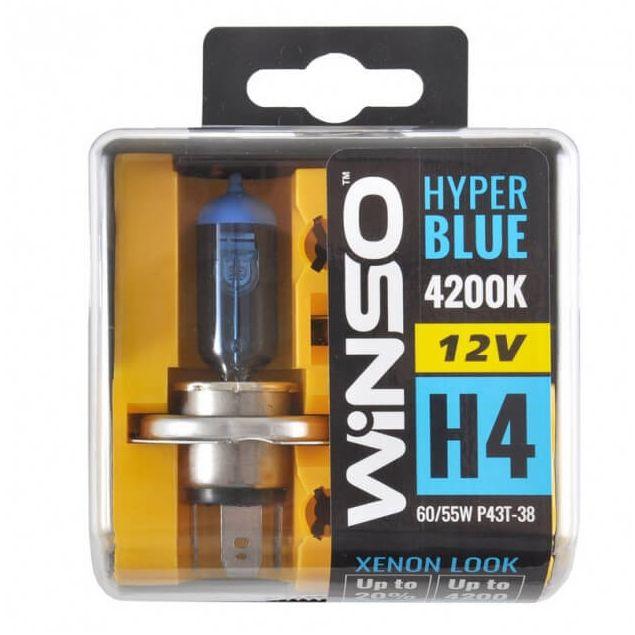 Галогенные лампы Winso HYPER BLUE H4 12V 4200K 60/55W P43t-38 (712450) - 1