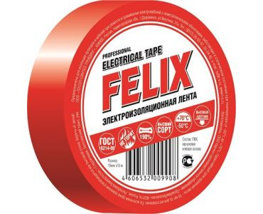Изолента в Днепре - Изолчционная лента Felix ПВХ красная
