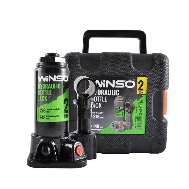 Домкрат бутылочный WINSO 182000 2т в кейсе 148-276 мм - 2
