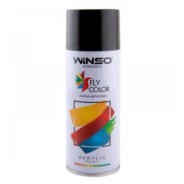 Вінсо Фарба акрилова,Spray 450ml.,чорний глянц.,(GLOSS BLACK/RAL9005) - 1