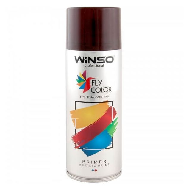 Грунтовка Winso Spray багрово-красная RAL3000 880120 450мл - 1