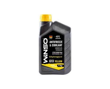 Охлаждающие жидкости в Днепре - Антифриз Winso Yellow G13 -42 °С 1 кг Желтый