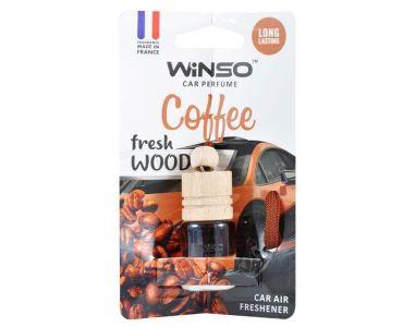 Ароматизатор в машину - Винсо Ароматизатор Winso Fresh WOOD Cofee 530360