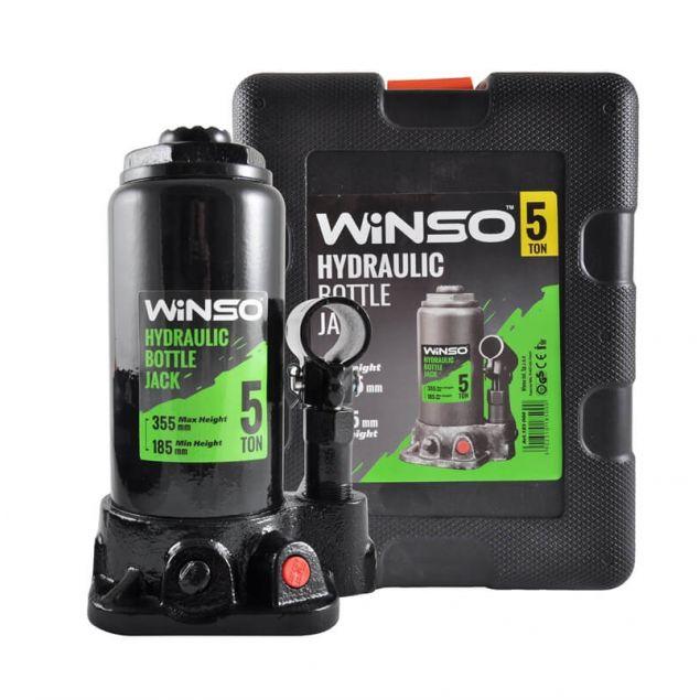 Домкрат бутылочный WINSO 185000 5т 185-355 в кейсе - 1