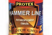 Эмаль с эффектом ковки Protex Hammer Line чёрная (0,7) - 1