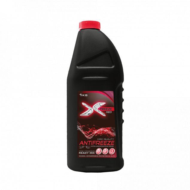Т. З Антифриз X-FREEZE red, в п/е кан. 1 кг - 1