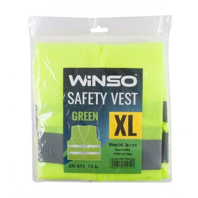WINSO Винсо Жилет сигнальний, зелений, розмір XL (149100) - 1