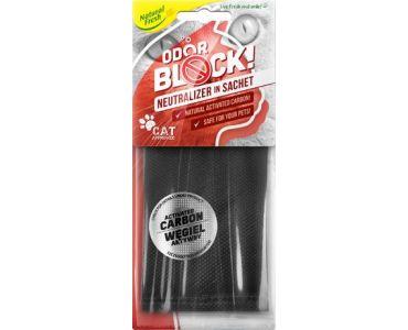 Нейтралізатор запаху домашніх - Нейтралізатор запаху тварин у САШІ Elix ODOR BLOCK carbon sachet CAT -