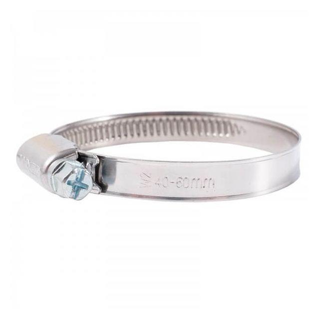 Вінсо Хомути металеві нерж. сталь 40-60,9 мм W2 (100шт.) - 1