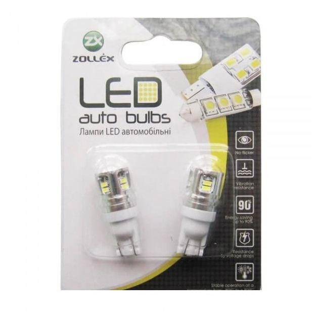 Zollex LED T10 SMD3014x12 12V White (2шт) T1178 - 1