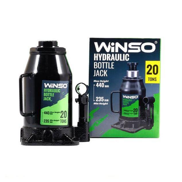Домкрат гидравлический бутылочный Winso 170220 20т 235-440мм - 1