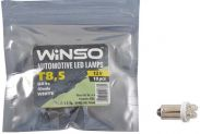 Автолампа WINSO 12V FLUX T8.5 BA9s 4LEDSwhite 10шт.уп.127680 - 1