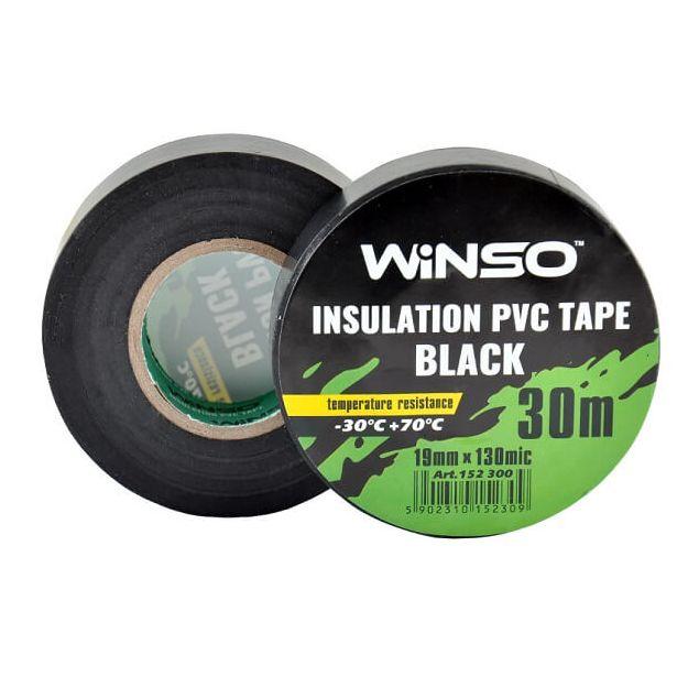 Изолента Winso ПВХ черная 30м /19 мм - 1