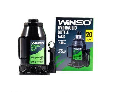 Домкраты автомобильные - Домкрат гидравлический бутылочный Winso 170220 20т 235-440мм