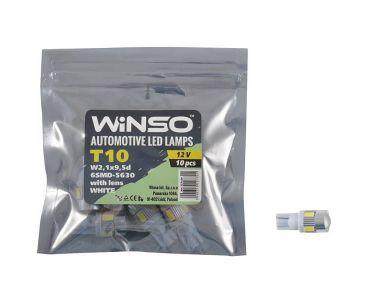 - LED лампа Winso T10 12V SMD5630 W2.1x9.5d lens 127320 -