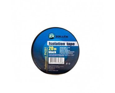 Ізолента, скотч - Zollex Ізоляційна стрічка (10 штук) чорна 20м PH201 -