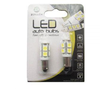 - Zollex LED BA9S SMD5050x9 12V White (2шт) S1115 -