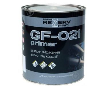 Алкидные грунтовки в Днепре - Грунт ГФ-021 серый ТМ Khimrezerv PRO (0,9кг)