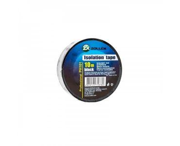 Ізолента, скотч - Zollex Ізоляційна стрічка (10 штук) чорна 10м PH101 -