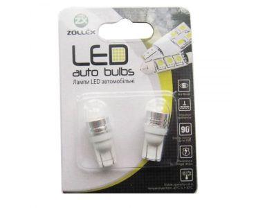 - Zollex LED T10 1W HPx1 12V White (2шт) T1101 -