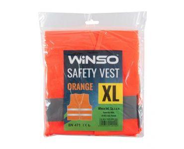 - Світловідбиваючий Жилет безпеки WINSO XL Помаранчевий 149200 -