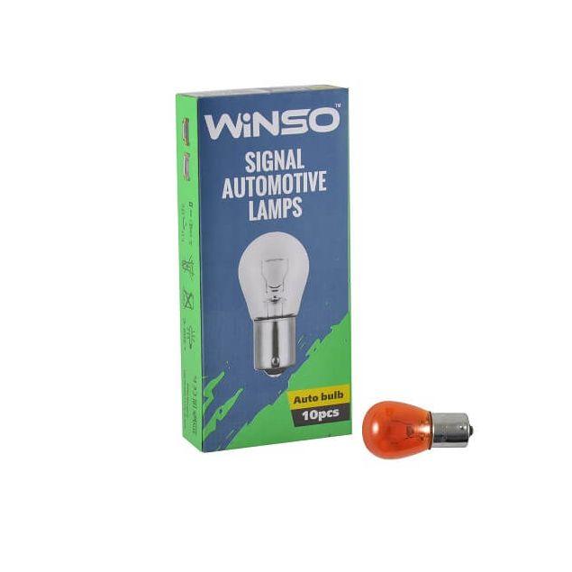 Лампа накаливания Winso PY21W 21W 12V BA15s Amber 713120 - 1