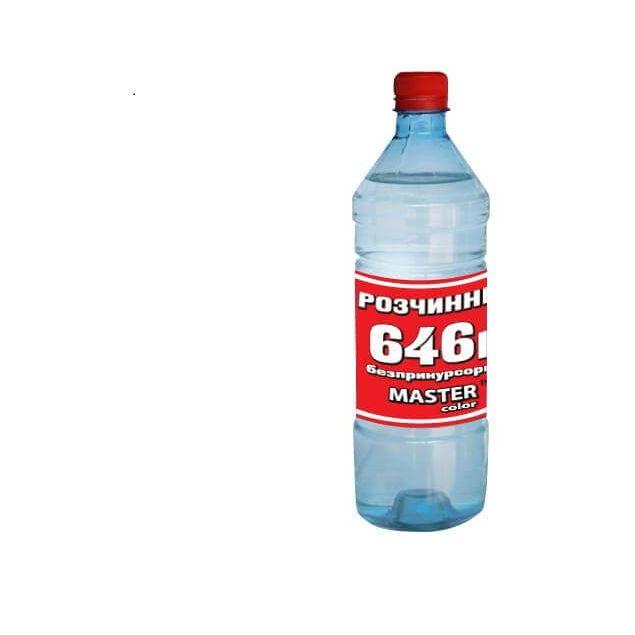 Растворитель 646 безприкусросный Master color 560г - 1