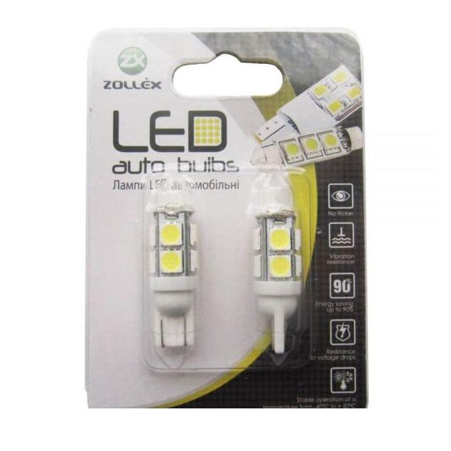 Zollex LED T10 (2835+5050)x12 12V White (2шт) T1122 - 1