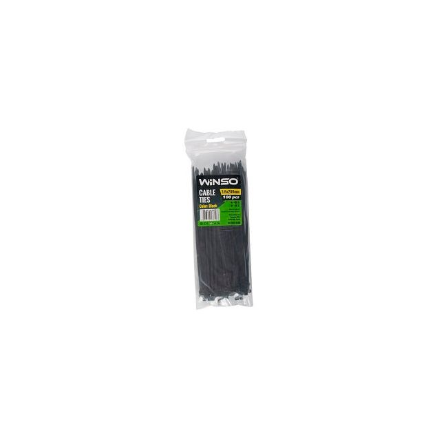 Хомуты пластиковые WINSO 236200 3,6x200 мм Черные - 1